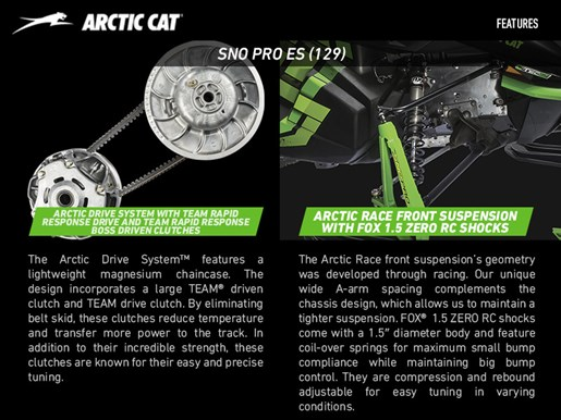 2017 Arctic Cat ZR 8000 Sno Pro ES (129) Photo 2 of 3