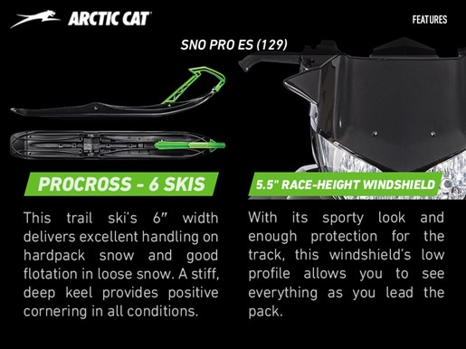 2017 Arctic Cat ZR 8000 Sno Pro ES (129) Photo 3 of 3