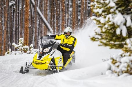 2018 Ski-Doo MXZ® TNT® 600 H.O. E-TEC® - White/Sunburst Yellow Photo 2 of 2
