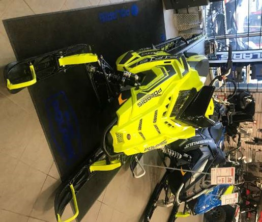 2018 Polaris 800 PRO-RMK 163 SnowCheck Select LIme Squeeze / Bl Photo 2 of 4