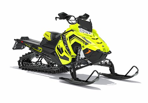 2018 Polaris 800 PRO-RMK 163 SnowCheck Select LIme Squeeze / Bl Photo 4 of 4