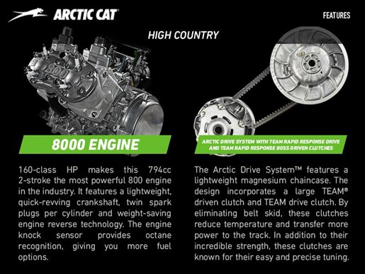 2017 Arctic Cat XF 8000 High Country Photo 3 of 4