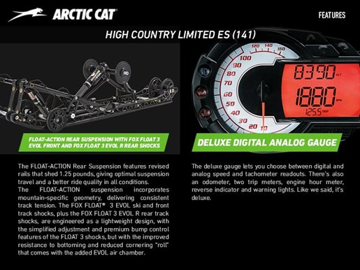 2017 Arctic Cat XF 8000 High Country Limited ES (141) Photo 4 of 4