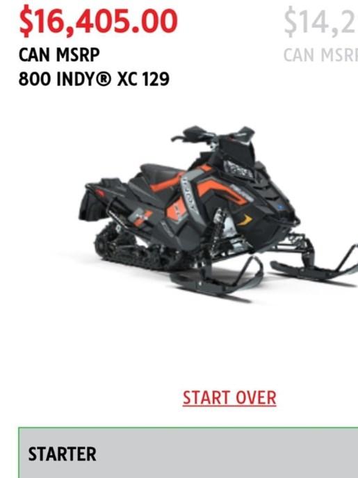 2019 Polaris 800 Indy XC 129 Photo 1 of 1