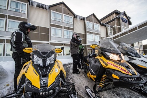 setting up gold rush skidoo