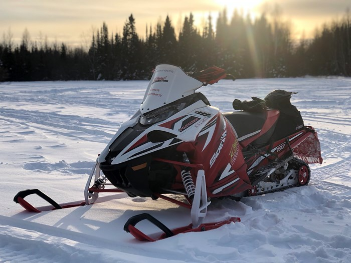 morning snowmobiling cochrane