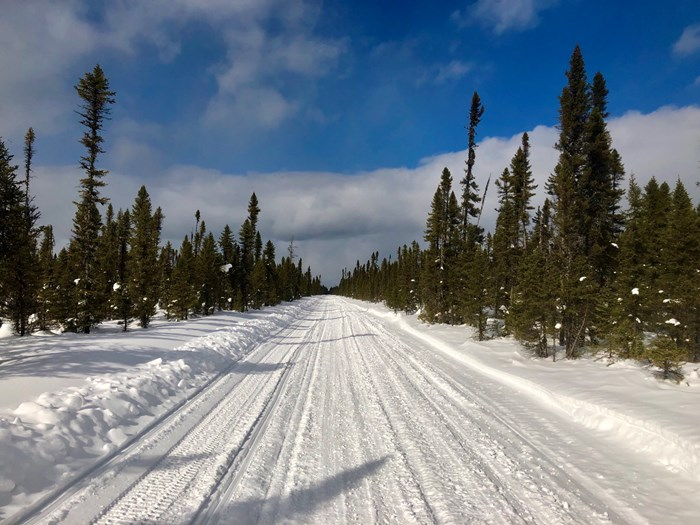 wide open snowmobile trails