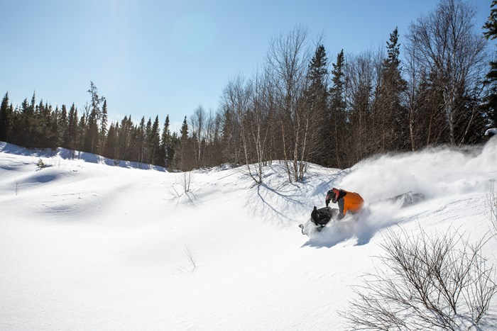 deep powder off trail riding wawa ontario