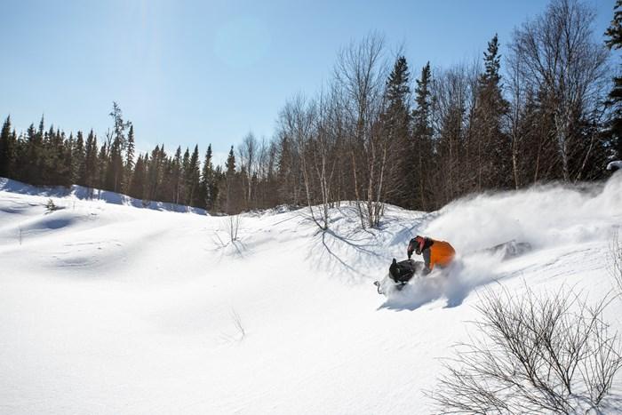 deep powder off trail riding wawa ontario