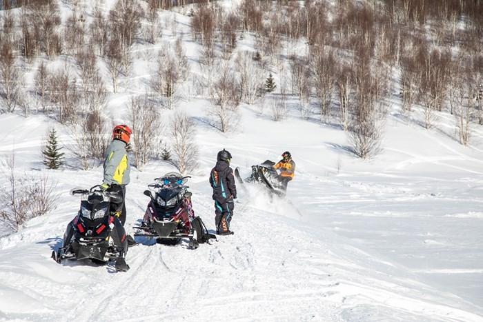 snowmobilers in wawa ontario touring