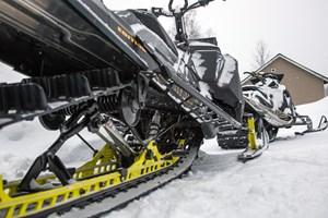 2017 Ski-Doo Summit X 850 parked rear skid view
