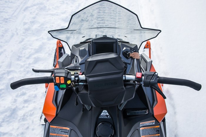 2017 Polaris Switchback controls