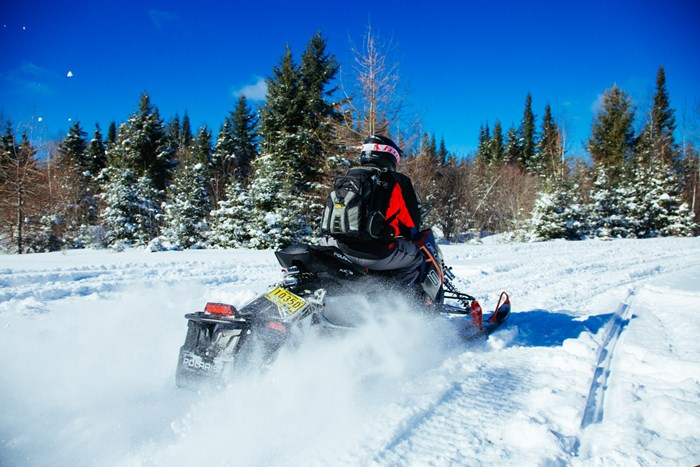 2017 Polaris Switchback from behind