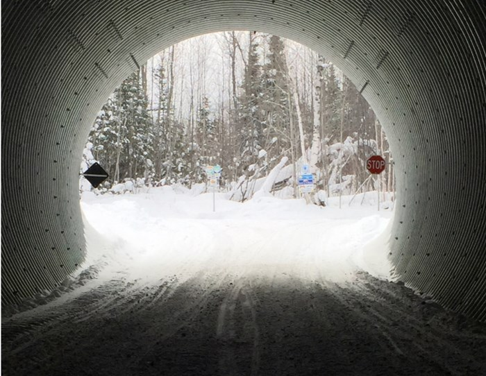 One of the few tunnels in Ontario you can actually drive through