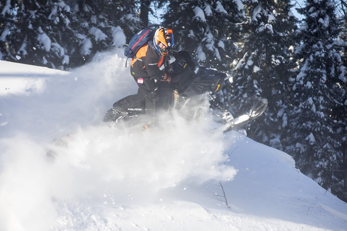 deep powder 2017 Polaris Switchback Assault 144 Kilm gear Abitibi Canyon Tour