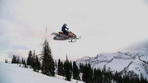 Mountain Snowmobiles For Sale SledDealersca Article - This is what happens when you fly a snowmobile off a cliff