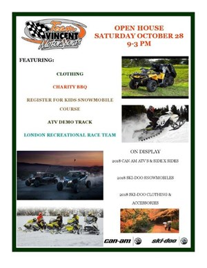 Ski-Doo ANNUAL SKIDOO OPEN HOUSE OCT. 28TH 9:00AM TO 3:00P 2017
